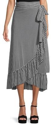Ganni Gingham Wrap Skirt