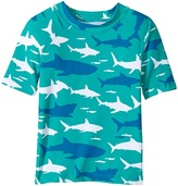 Hatley Toothy Shark Short Sleeve Rashguard Boy's Swimwear