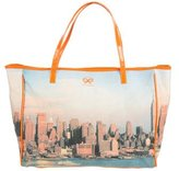 Anya Hindmarch Leather-Trimmed Printed Tote