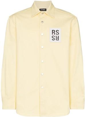 Raf Simons logo patch oversized shirt