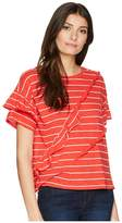 Kensie Lightweight Cotton Slub Stripe Top KS5K3647 Women's Clothing