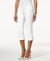 NYDJ Petite Ariel Slim-Fit Barely Pink Wash Capri Jeans