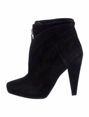 Proenza Schouler Suede Cutout Accent Boots Black