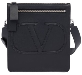 Valentino Mini Logo Leather Crossbody Bag