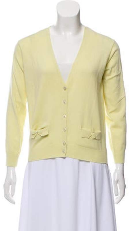 Marc Jacobs Cashmere Button-Up Cardigan yellow Cashmere Button-Up Cardigan