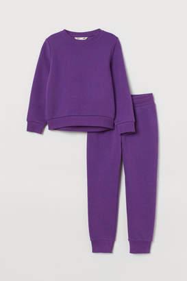 H&M Sweatshirt and Joggers - Purple