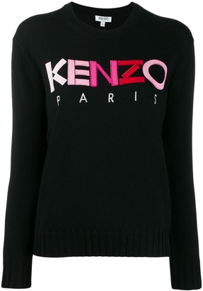 Kenzo Ombre Logo Embroidered Sweater