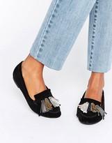 Asos MYLA Suede Tassle Flat Shoes