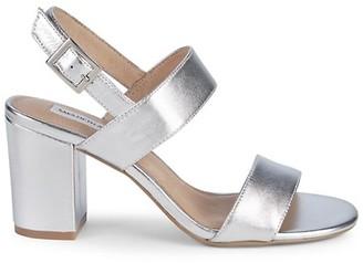 Saks Fifth Avenue Erica Metallic Block-Heel Slingback Sandals