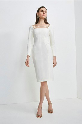 Karen Millen Italian Technical Jersey Strappy Dress