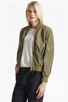 French Connection Ruched Sleeve Bomber Jacket