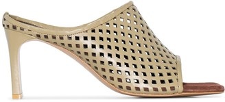 SALONDEJU 90mm Perforated-Leather Mules