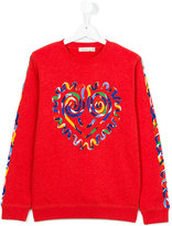 Stella McCartney heart print sweatshirt - kids - Cotton - 14 yrs
