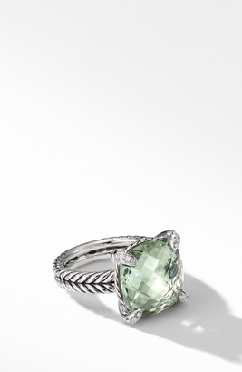 David Yurman Chatelaine Prasiolite Ring with Diamonds