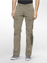 Calvin Klein Slim Straight Military Print Cargo Pants