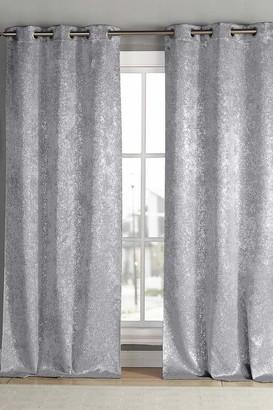"Duck River Textile Maddie Blackout Grommet Curtains 96"" - Set of 2 - Silver"