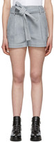 3.1 Phillip Lim Blue Denim Belted High-Waist Shorts
