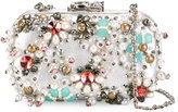 Corto Moltedo Susan C Star clutch bag - women - Nappa Leather/Pearls/Stone/Silk Satin - One Size