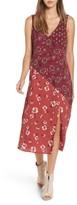 Band of Gypsies Women's Mix Print Midi Dress