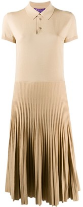 Ralph Lauren Collection Knitted Polo Midi Dress