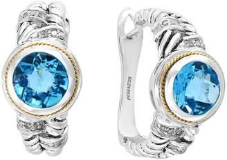 Effy Fine Jewelry 18K & Silver 4.46 Ct. Tw. Diamond & Blue Topaz Earrings