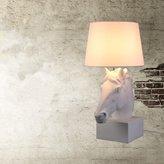 GJTIDENG E27 Resin Horse Head Lamp European Retro Style Creative Resin Bedroom Living Room Bedside Art Decorative Light