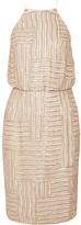 Diane von Furstenberg Samala Beaded Silk-chiffon Dress - Off-white