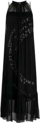 Mcq Swallow Sleeveless Slogan Print Dress