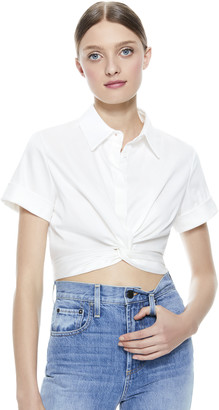 Alice + Olivia Phebe Knot Front Crop Top