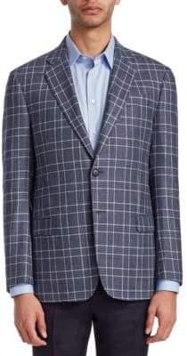 Emporio Armani Plaid-Print G-Line Sportcoat