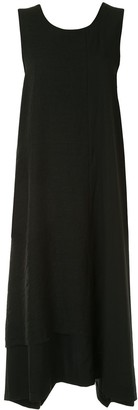 Y's Sleeveless Draped Midi Dress