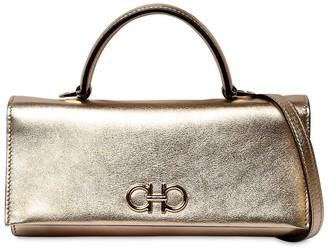Salvatore Ferragamo Mini Metallic Leather Shoulder Bag