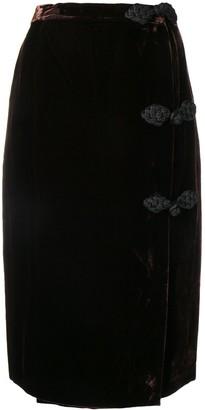 Valentino Pre-Owned 1980's Velvet Pencil Skirt