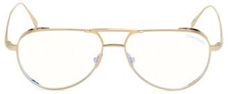 Tom Ford 56MM Titanium Blue Filter Optical Glasses