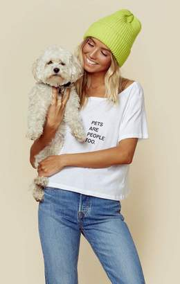good hYOUman PETS ARE PEOPLE TOO CROP TEE