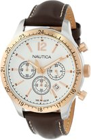Nautica Men's Sport N17638G Leather Quartz Watch