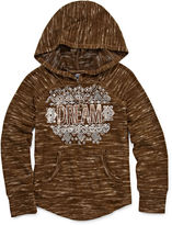Beautees Long-Sleeve Foil Graphic Hoodie with Necklace - Girls 7-16