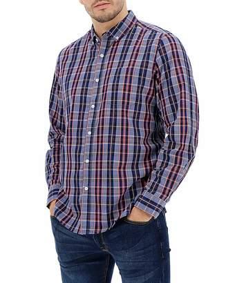 Jacamo Denim/Navy Long Sleeve Check Shirt