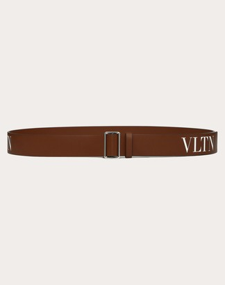 Valentino Garavani Uomo Vltn Belt Man Tan Calfskin 100% 90