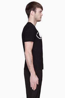 Comme des Garcons Black White eyes Logo T-Shirt