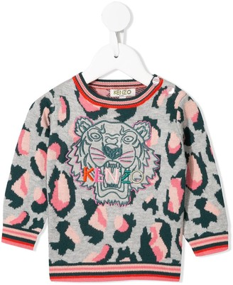 Kenzo embroidered Tiger jumper