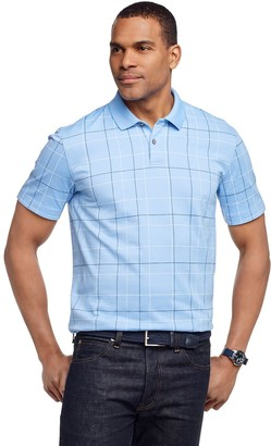 Van Heusen Men's Flex Windowpane Polo