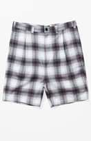 PacSun Ombre Plaid Baggy Chino Shorts