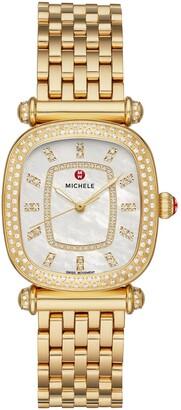 Michele Caber Isle Diamond Dial Diamond Watch Head & Bracelet, 32mm