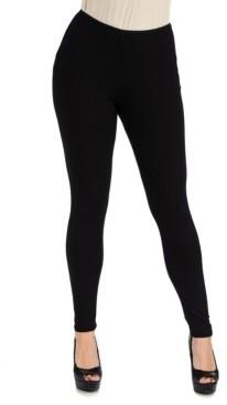 24seven Comfort Apparel Women's Plus Size Stretch Ankle Length Leggings