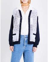 Loewe Anagram-print wool cardigan