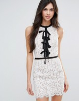 Endless Rose Lace Shift Dress With Tie Detail