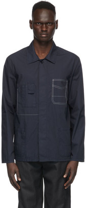 Maison Margiela Navy Garment-Dyed Slim Shirt