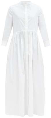 Brock Collection Gathered Cotton-blend Shirtdress - White