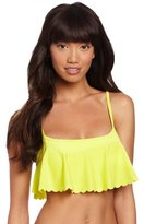 Roxy Juniors Sun Dancer Cropped Scalloped Bikini Top